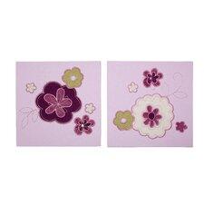 Pretty in Purple 2 Piece Canvas Art Set