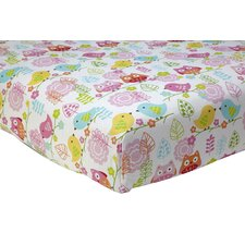 Love Bird Flat Crib Sheet