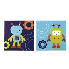 Baby Bot 2 Piece Canvas Art Set