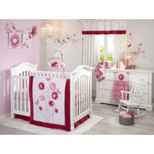 Butterfly Bouquet 4 Piece Crib Bedding Set