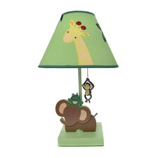 """Jungle Babies 16"""" H Table Lamp with Empire Shade"""