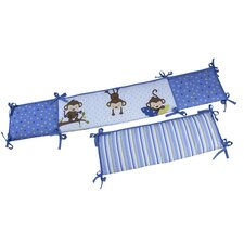 3 Little Monkeys Crib Bumper
