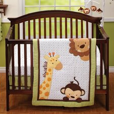 Jungle Pals 3 Piece Crib Bedding Set