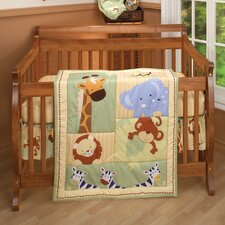 Safari Kids 3 Piece Crib Bedding Set