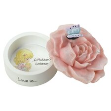 "Decorative ""Love Is a Mother's Embrace"" Rose Trinket Box"
