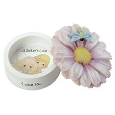 "Decorative ""Love Is a Sister's Love"" Daisy Trinket Box"
