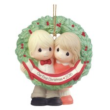 """""""Our First Christmas Together 2016"""" Bisque Porcelain Ornament"""