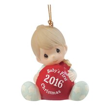 """Baby's First Christmas 2016"" Bisque Porcelain Ornament"