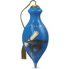 """Aspire, Achieve, Succeed"" Petite Brilliant Shaped Glass Ornament by Sandy Lynam Clough"