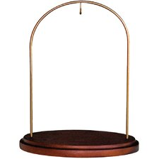 Ne'Qwa Walnut Petite Hanging Wood/Metal Stand