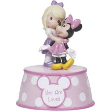 """""""You are Loved"""" Resin Music Box, Girl Figurine"""