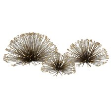 Laserette 3 Piece Wire Flower Wall Decor Set