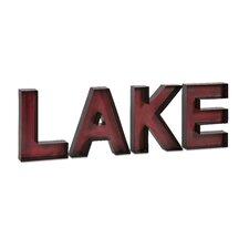 Lake Metal Wall Letter 4 Piece Set