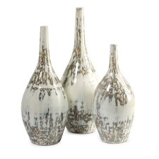 3 Piece Hampton Mexican Pottery Vases Set