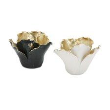Lucien 2 Piece Porcelain Votive Set