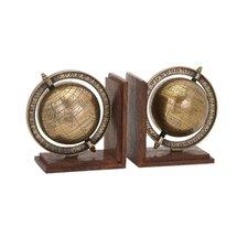 Beth Kushnick Globe Bookend (Set of 2)