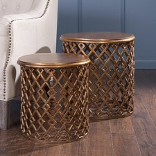 Beth Kushnick 2 Piece Nesting Table Set