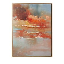 Messer Oil Framed Graphic Art on Canvas