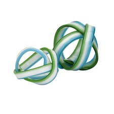 2 Piece Cambria Glass Knot Sculpture Set