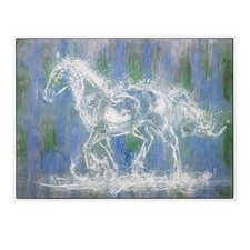 Ghost Horse Oil Framed Graphic Art on Canvas