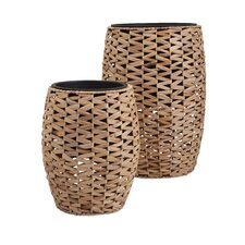 Cayla 2 Piece Round Pot Planter Set