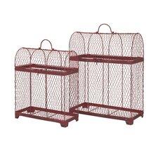 Cynthia 2 Piece Decorative Bird Cage Set