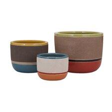 Jacey 3 Piece Round Pot Planter Set