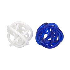 Athens Decorative Oversized Glass Knot (Set of 2)