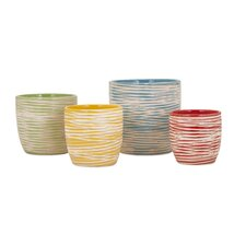 Garin 4 Piece Round Pot Planter Set