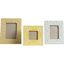 Sylvia 3 Piece Geometric Ceramic Picture Frame Set