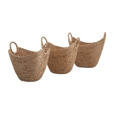 Caitlan Natural Weave Basket (Set of 3)