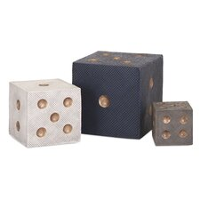 3 Piece Decorative Dice Set