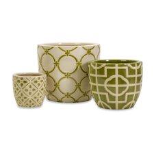 3 Piece Lattice Vase Set