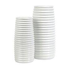 Daley 2 Piece Ribbed Vase Set