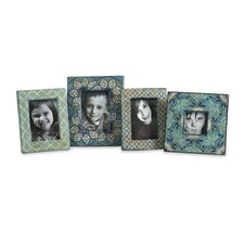 Kabir 4 Piece Hand Painted Picture Frame Set