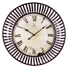 """Oversized 35"""" Banded Wall Clock"""