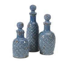 3 Piece Antonini Decorative Bottle Set