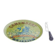 """Camembert-Servierteller und Messer Set """"BIA"""""""