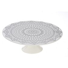 BIA Doily Pedestal Cake Stand