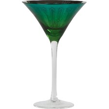 Peacock Martini Glass (Set of 2)