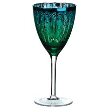 Peacock Wine Glass (Set of 2)