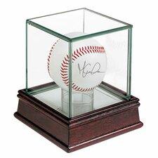 Glass Single Ball Display Case