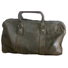 "18"" Distressed Leather Carry-On Duffe"