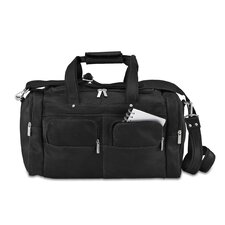 "19.5"" Multi Pocket Distressed Leather Gym Duffel"