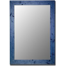 Vintage Blue Framed Wall Mirror