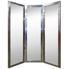 Royal Stainless Silver 3 Paneled Mirror