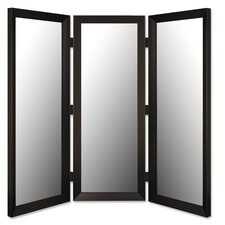 "71"" x 69""  3 Panel Room Divider in Angle Iron Black"