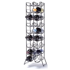 Rooftop 18 Bottle Floor Wine Rack