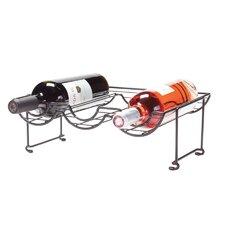 6 Bottle Tabletop Halfpipe Wine Rack (Set of 2)