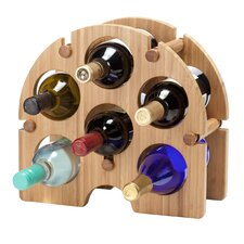 Bamboo Arch 6 Bottle Tabletop Wine Rack